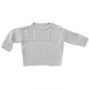 Gone Fishin' Sweater - grey