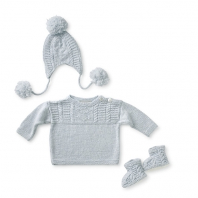 gone fishing layette - blue