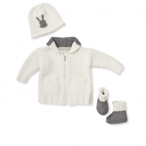 grey rabbit signature layette